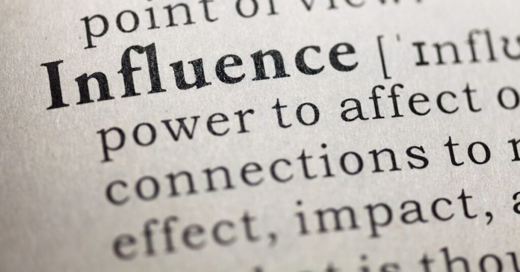 Definition of influence